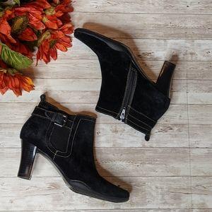 Aerosoles Cinteresting Black Suede Ankle Boots